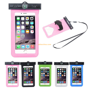 5.5 inch Universal mobile phone accessory PVC case best waterproof bag for swimming, custom logo waterproof phone pouch for apple iphones