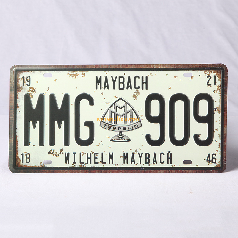 Personalized custom old fashioned metal signs vintage car metal