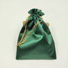 Wholesales cheap recycled custom top quality satin lingerie drawstring bag pouch with logo
