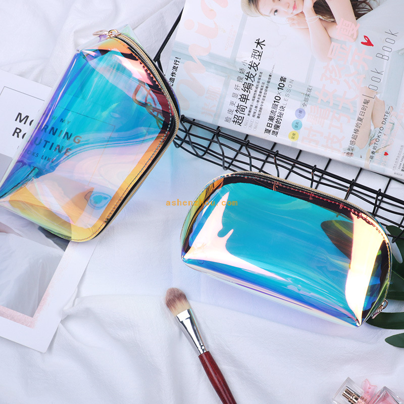 Top sell custom promotional New design wholesale travel ladies laser PVC TPU transparent waterproof cosmetic bags clear toiletry travel bag