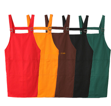 Fancy eco-friendly custom colorful blank polyester kitchen apron for restaurant