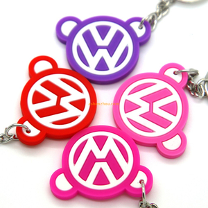 New product cheap price brand silicone material mini wholesale custom keychains