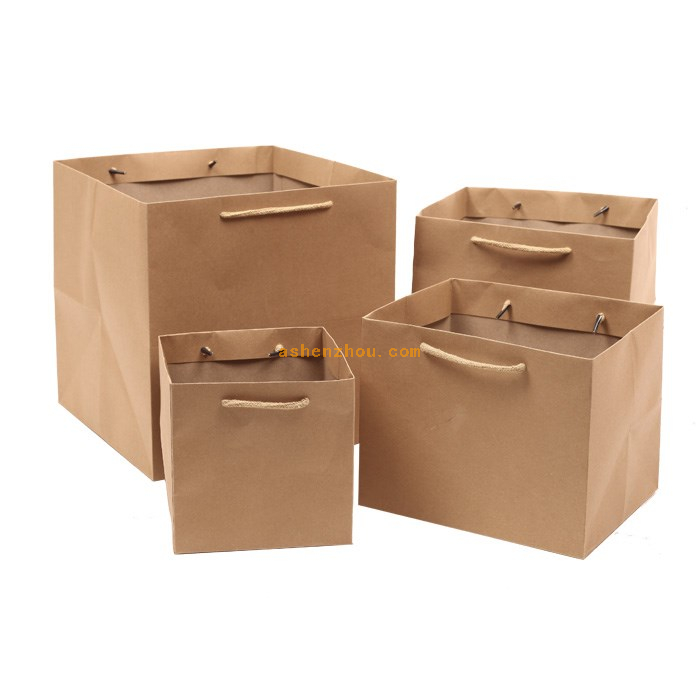China wholesale low price custom logo print eco shopping promotional pp paper shoulder kraft bag