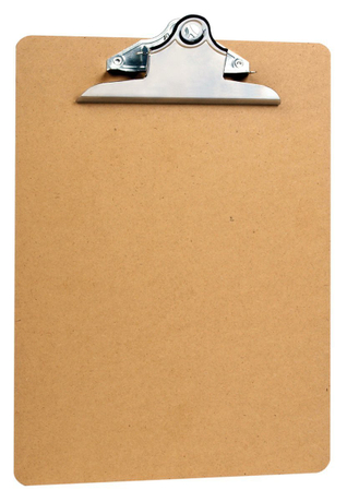 Factory direct promotional custom Letter Size Clipboards 9'' x 12.5'' Standard Clip Hardboard (Pack of 6)