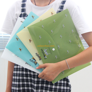 Super quality wholesale custom logo printed zipped personalized pp plastic ironing plastic document envelopes bags
