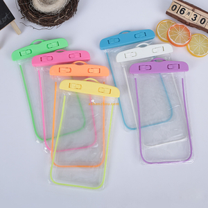 Universal waterproof accessories custom phone case PVC mobile phone waterproof bag with string for All kindy phone