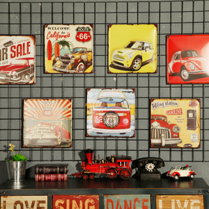 Customised high quality retro automotive Poster metal tin sign advertising signs printing wholesale