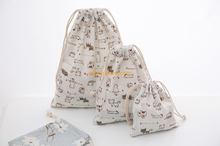 Cheap wholesale Durable Canvas Plain cotton drawstring muslin shopping bags