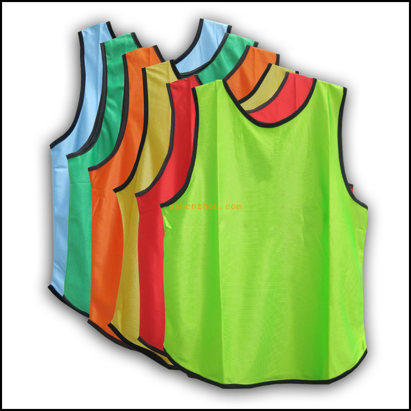 Promotional custom reversible breathable sport mesh soccer polyester training basketball vest