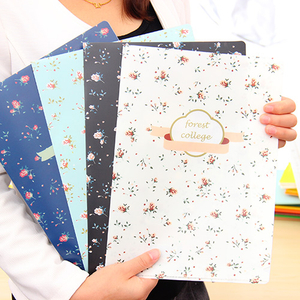 Promotional fashion design custom full color printing durable L shape A4 size plastic hard cover file folder for sale