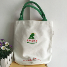 Fashion style wholesale custom personalized large cotton canvas sack natural tote shopping bags with zipper pockets
