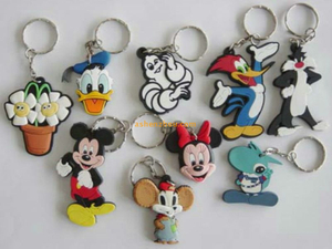 High quality thick durable PVC keychains with key ring 2D letters design for bulk sale