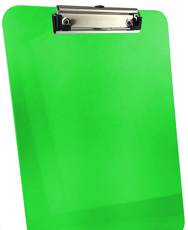 Wholesale fashion personalised custom print colorful A4 plastic clipboard with metal clip