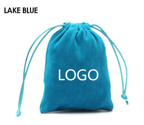 China factory wholesale price custom logo printed personalized satintote velvet bags and creative gift bags with