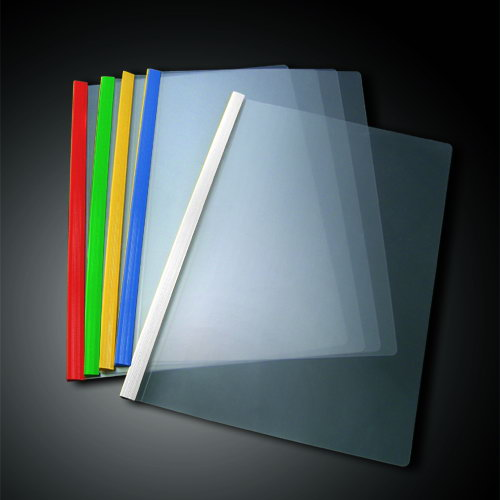 Promotional cheap price custom office stationery A4 transparent file folder slide bar clear PVC plastic binder