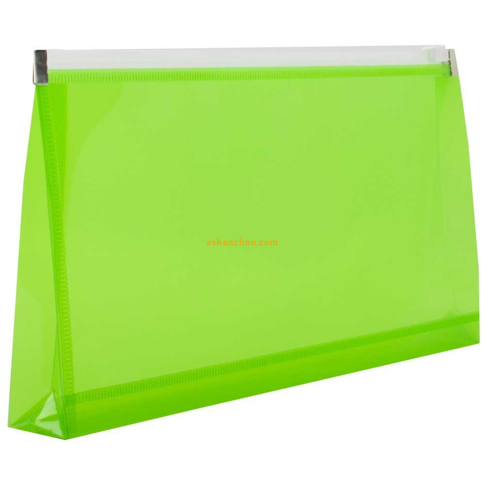 Wholesale cheap price custom various sizes pp plastic clear envelope foldable file storage bags with zipper closure