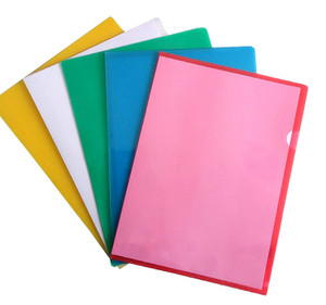 Best sell cheap price custom A3 A4 A5 FC size colorful L-shaped pp plastic elastic bands file folder for office