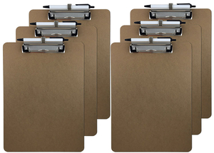High quality stationery products customn Letter Size stationery legal Clipboard Standard Clip 9'' x 12.5'' Hardboard